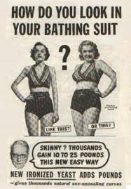 It's true! I'd much rather look like the lovely lady on the right. But hey, if you're one of those naturally skinny girls then the lovely lady on the left is probably more your jam.