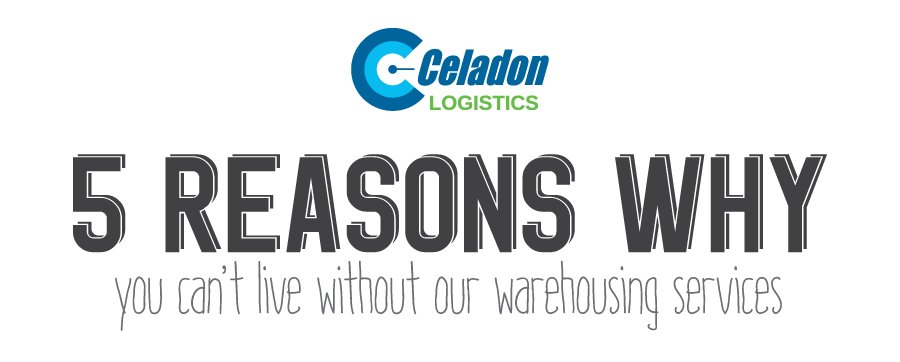 One of the most critical choices a business has to face is how to handle, store and ship both their raw materials and finished goods. A very reasonable, and usually most efficient option, is to allow a third party to handle and ship goods. At Celadon Logistics, we allow you to utilize our many tools to ship and store your goods, relieving you of all the hassle and stress. Here are five reasons partnering with Celadon Logistics for warehousing can help your business: 1.       Driver Shortage – The American Trucking Association estimates a national driver shortage to be between 35,000 – 40,000 drivers and expected to increase to nearly 300,000 by 2025. Partnering with a third-party logistics provider (3PL) will reduce the stress of dealing with this driver shortage, and let your business focus on its primary tasks. 2.       Warehousing Space – Celadon Logistics has more than three million square feet in dedicated and shared warehousing space. If your business doesn't have a need for an entire warehouse, needs space in multiple areas or the task of ware house management seems daunting (which it is), we have a customized solution for your needs. 3.       Inventory Accuracy – Partnering with a 3PL is supposed to reduce stress, not increase it, and an inaccurate warehousing partner will certainly increase the stressors associate with logistics and storage.  From May to November of 2014, or inventory accuracy averaged 99.77%, opposed to the industry average of 98%. 4.       Accessible Information – Our Warehouse Management System (WMS) allows you to check your inventory in real-time at anytime, anywhere. Now that's information accessibility that allows business owners and managers to sleep well at night. 5.       Value-Added Services – We could write a whole separate list of reasons why our value-added services make Celadon Logistics a top warehousing partner, but you can read all about that here. As a warehousing partner, Celadon Logistics has the resources to help your business grow or move in the direction you want. Read the many more ways Celadon Logistics can make your business-life less stressful.  http://www.celadonlogistics.com/
