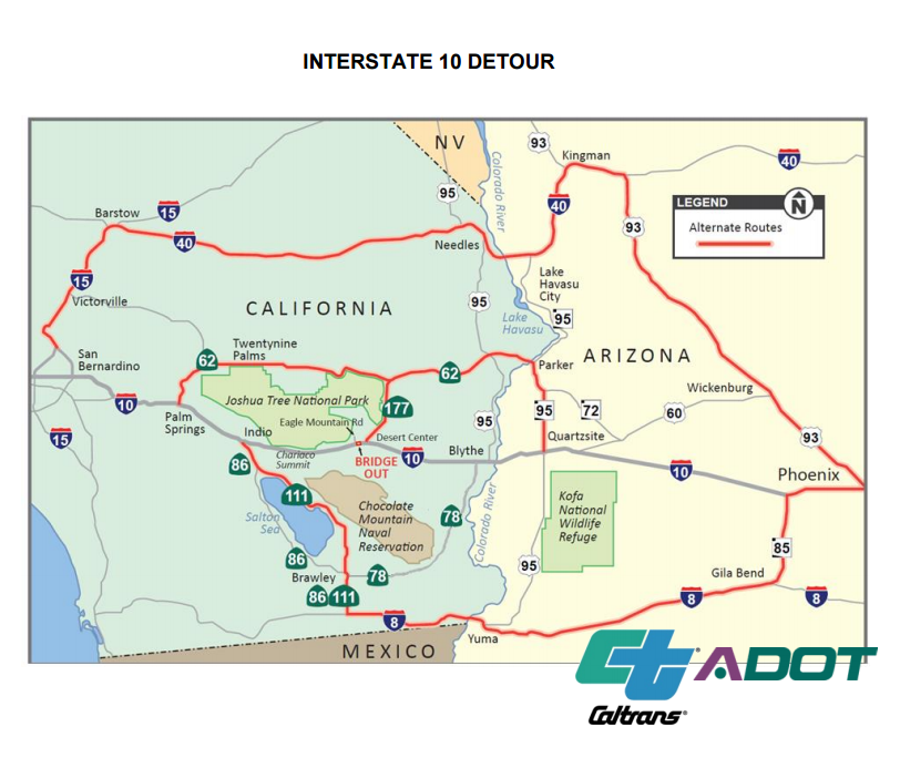 I-10 detour