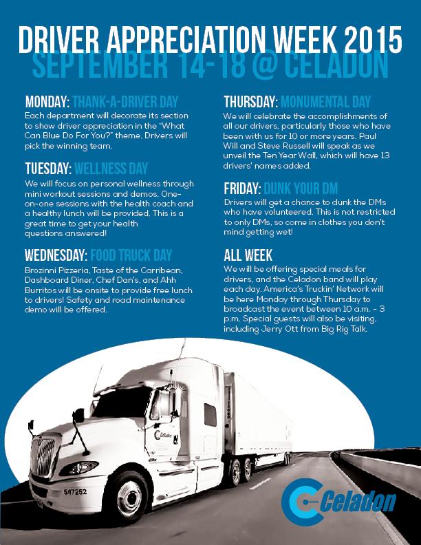 Driver Appreciation Week 2015
