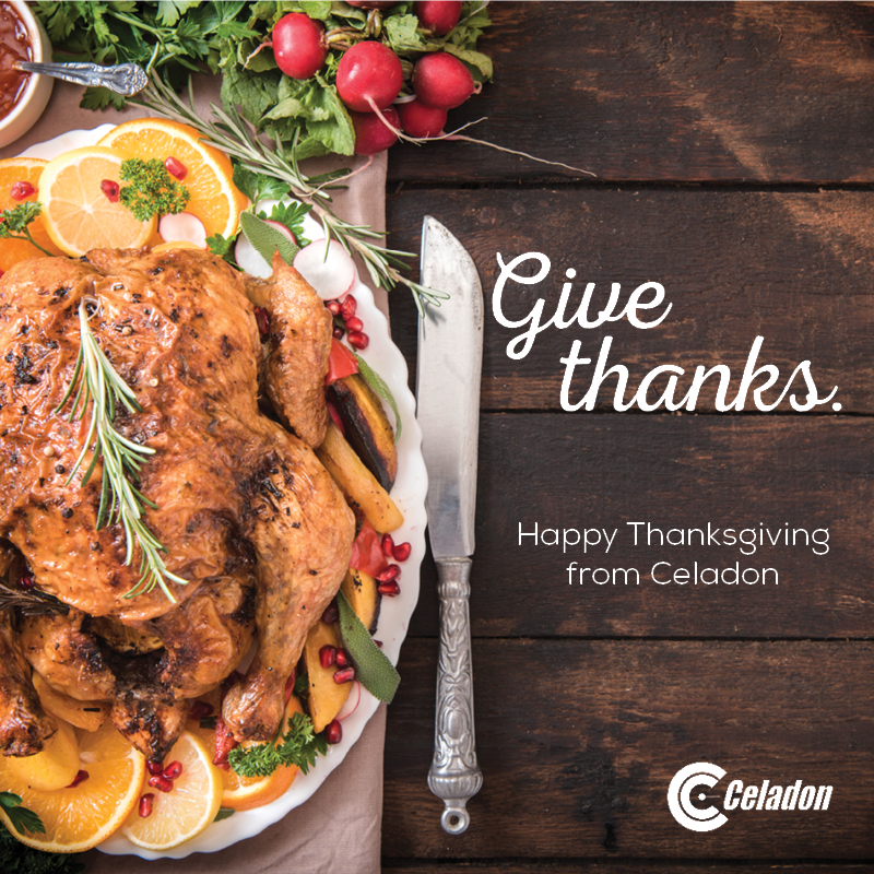 Happy Thanksgiving from Celadon