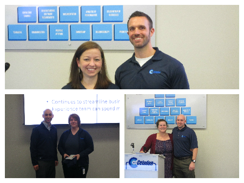 Top: Ashley Harr with her manager Ben Werner. Bottom left to right: Dana Lebo with her manager Kevin Largent, Derek O'Brien with his manager Claire Cahill.