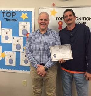 T.O.P. Trainer Andrew Roberson (right) with his Training Coordinator Rick Stitt