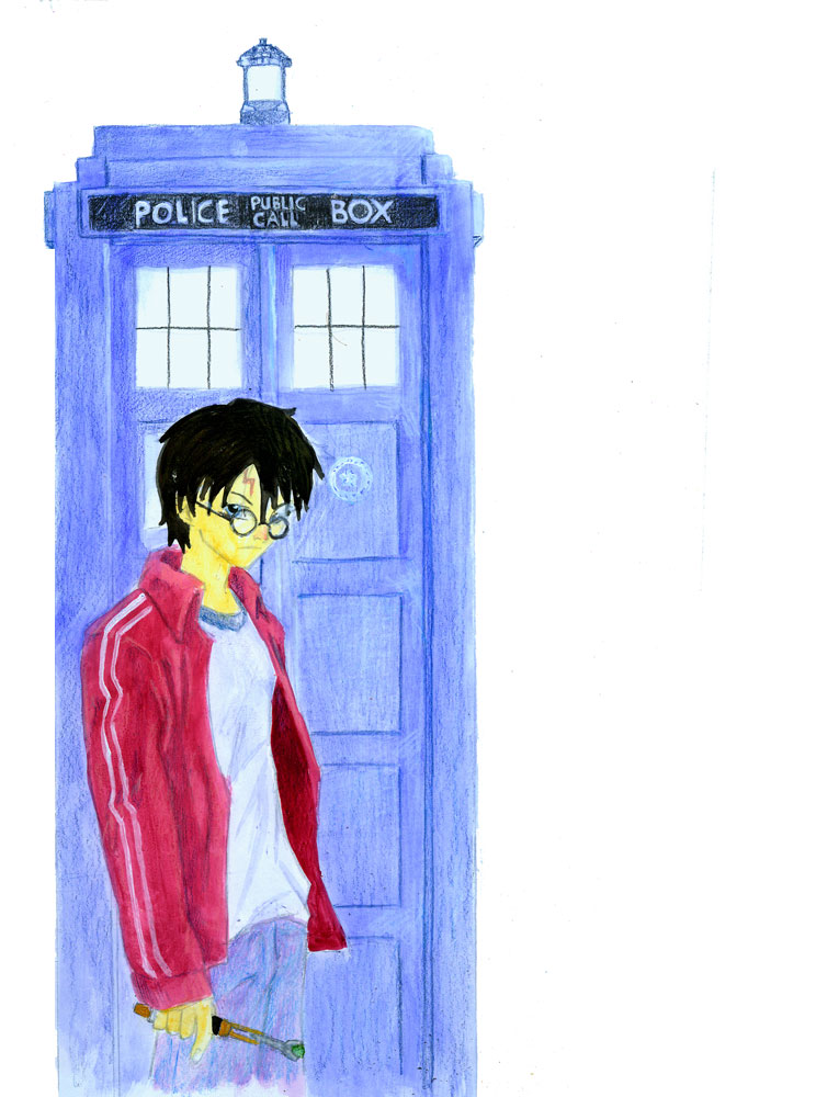 harry potter dr. who police box wand
