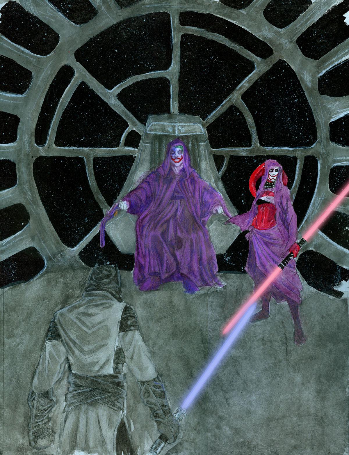 emperor joker harley quinn twi'lek batman jedi lightsaber