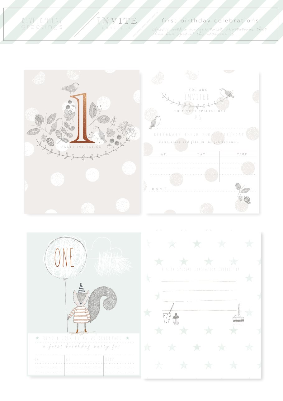 Invitations and packaging Mamas & Papas