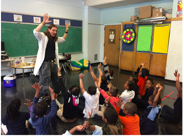 First grade enjoyed a visit from a MAD Scientist!