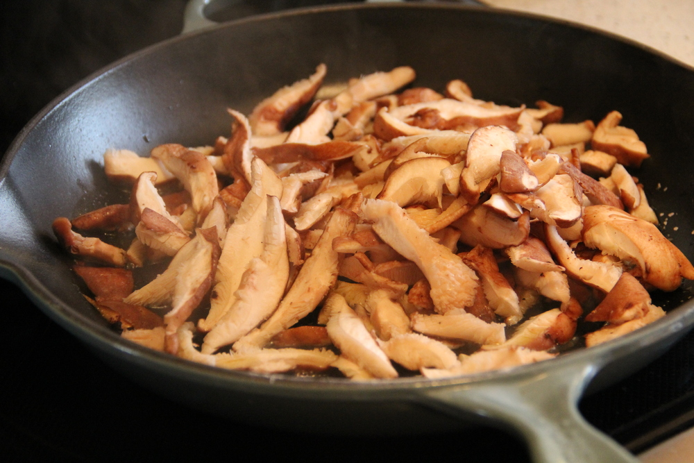 Cooking Shitake Mushrooms.JPG