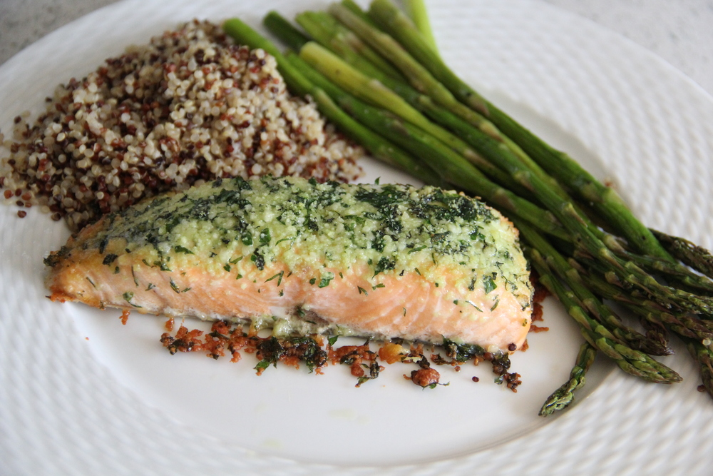 Parmesan & Herb Encrusted Salmon| Redefining Domestics.JPG