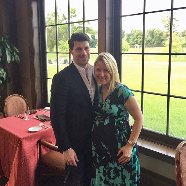 Last night of vacation with my main squeeze ❤️ #babymoon #salamanderresort #dinner #harrimansgrill #sopreggers #backoninsta #vacation #middleburg