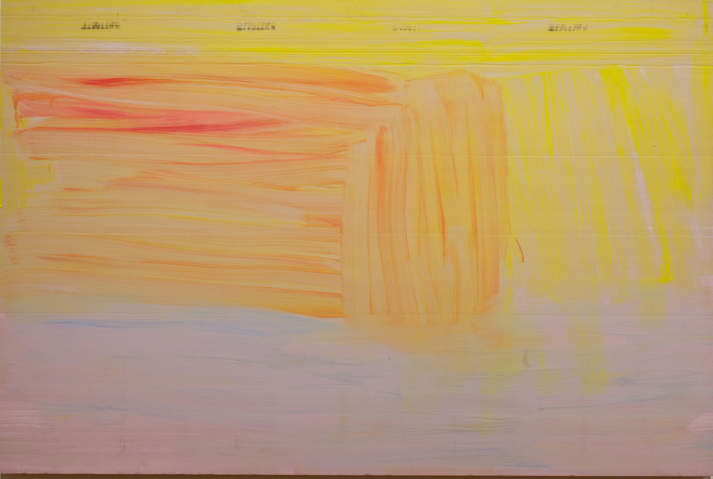 Acrylic on extruded insulation.  48 by 72 inches. 2012.