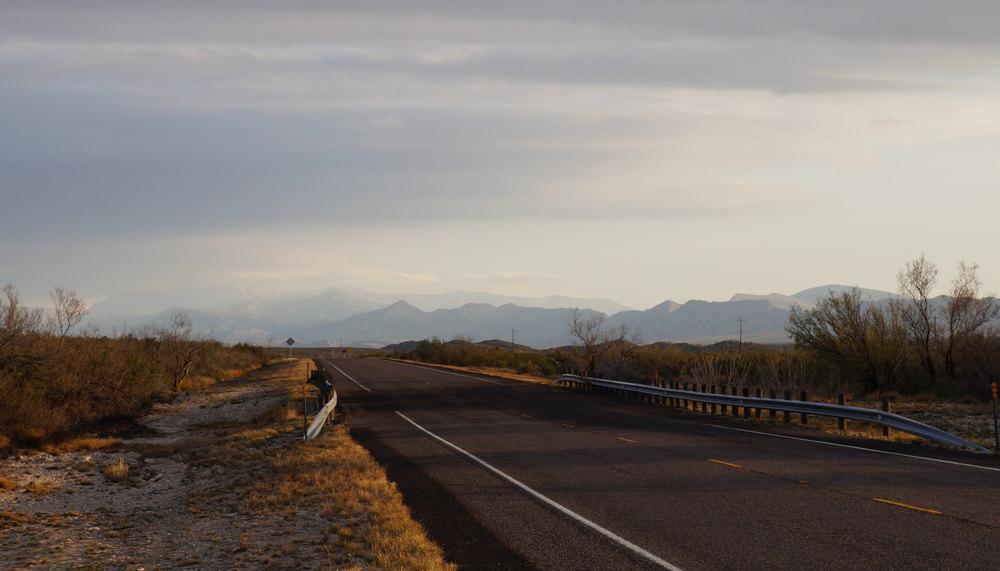 Leaving Big Bend National Park