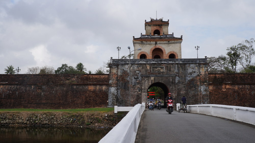 Bridge over the moat surrounding The Citadel in Hue