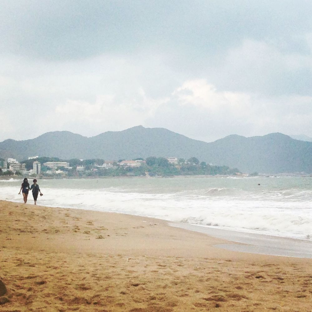 Beach in Nha Trang in between rain storms