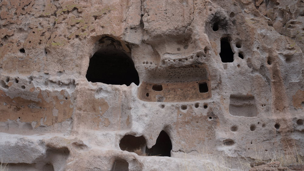 Ancient cave dwellings at Bandelier National Monument