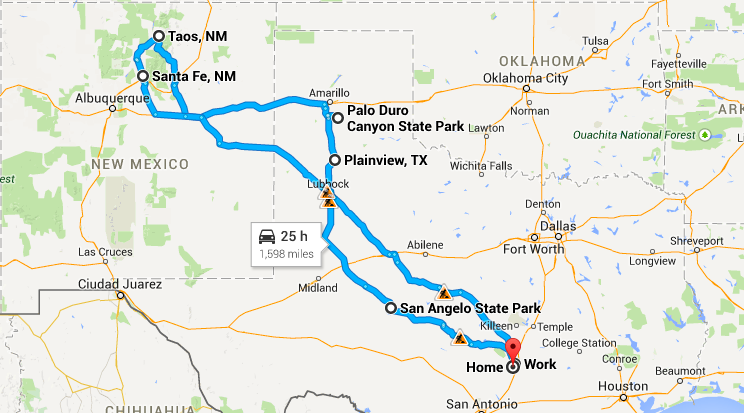 Final trip route