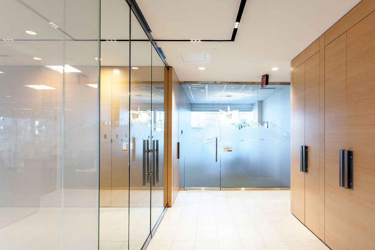 office define. Clean Lines And Crisp Finishes Define The Final Design For This Corporate Office Renovation Project.