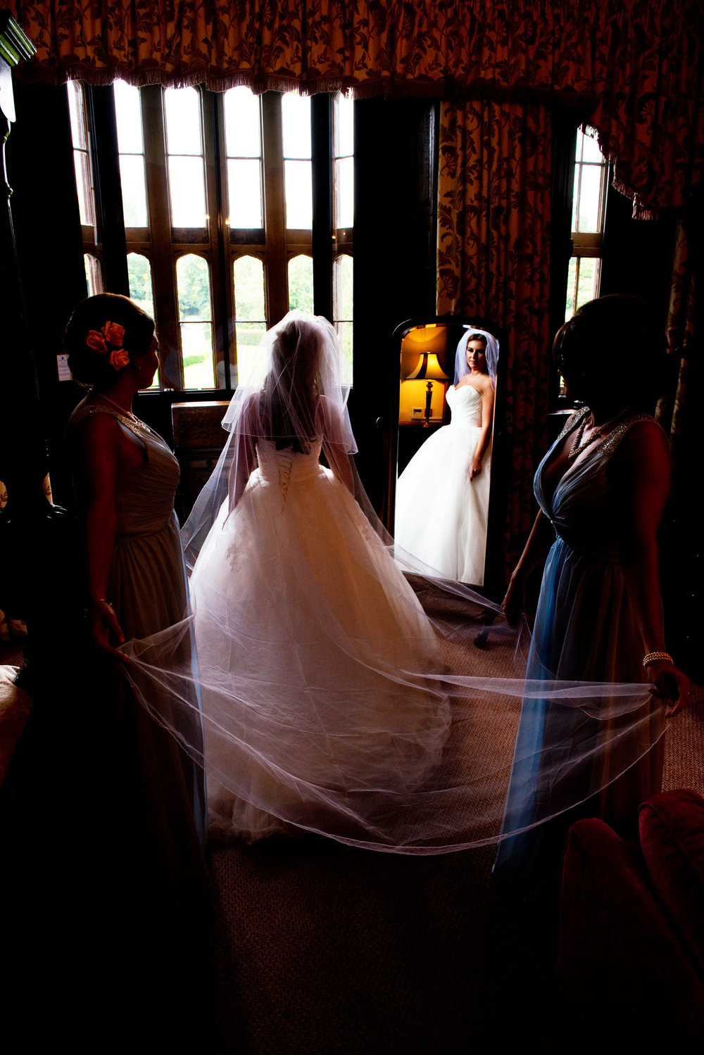 A final look before the bridesmaids take the bride to the Ceremony