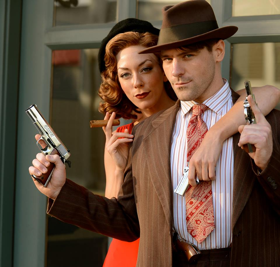 Allison F. Rich & Cliff McCormick as Bonnie Parker & Clyde Barrow  Photo: Dave LePori