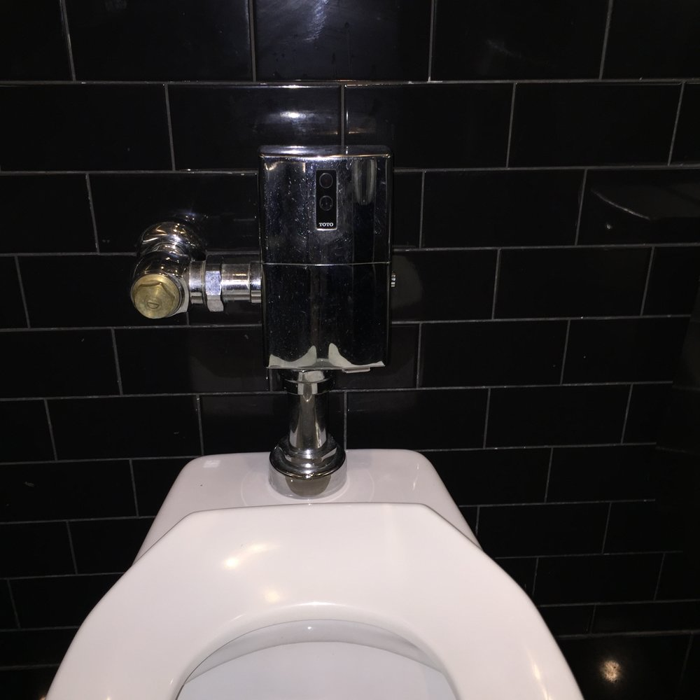 Quick. Where's the button or level to flush this thing?