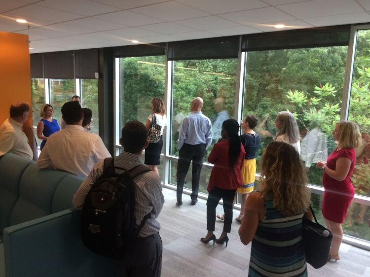 Taking a tour of the Saint Gobain North American Headquarters with Best for PHL