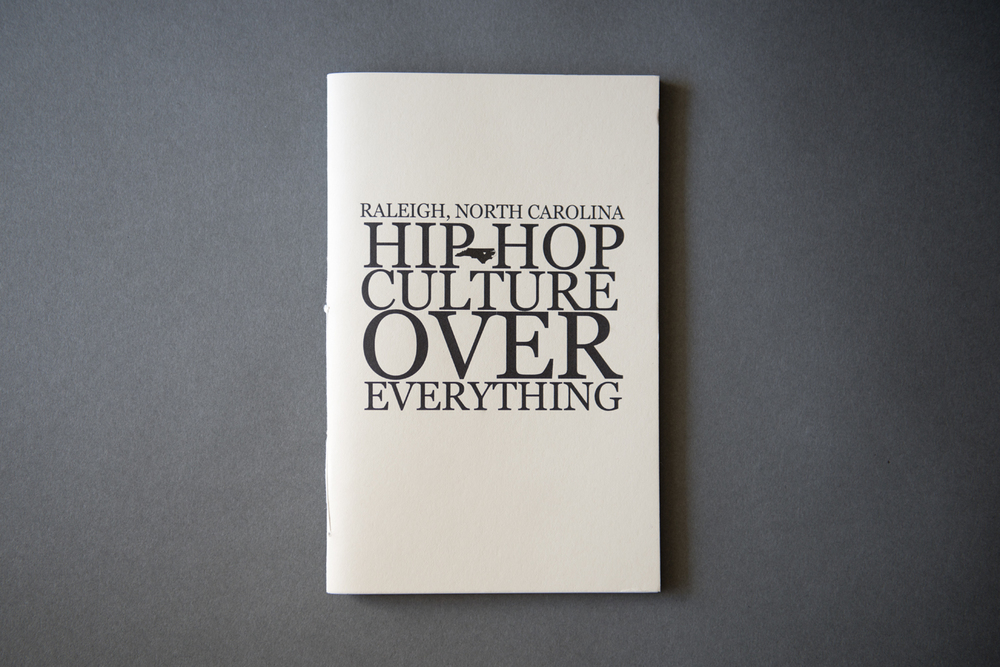 A while back we received this beautiful hand-crafted book, Hip Hop Culture Over Everything, by Jared Soares. Few promotional items are more treasured than booklets. Small, well-crafted books are a clever way to present a larger selection of images. We love how the photographs stand on their own, devoid of text, on uncoated matte paper. The typography on cover is bold and striking. Designed, printed and bound by Wisconsin Avenue Editions, the 7x9 saddle stitched booklet is a limited edition of 50. This one will have a place on our bookshelf for a long time