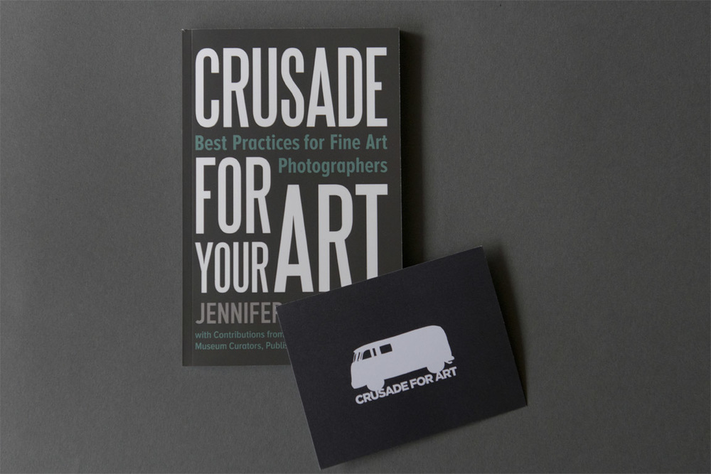 We were thrilled to receive our copy of  Crusade for Your Art: Best Practices for Fine Art Photographers  by Jennifer Schwartz. This book is packed with useful advice on a full spectrum of topics for emerging photographers and features short essay contributions from 25 industry leaders. There is a specific chapter on presenting work and developing effective promotional materials.  Jennifer Schwartz demonstrates her own advice by including a beautifully designed, handwritten notecard with the book. The whimsical bus logo is consistent with the rest of Crusade for Art's branding and the card is made of excellent stock. Jennifer practices what she preaches with this personal touch.