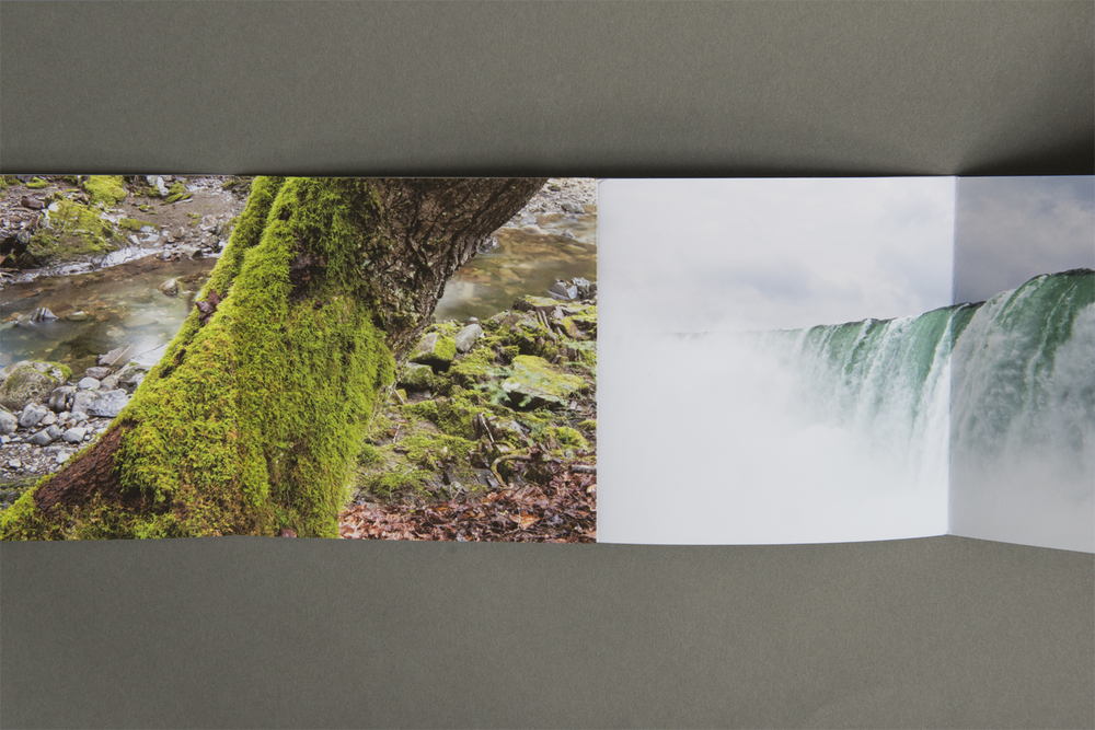 The accordion binding is especially clever, allowing for different sequences of the photographs depending on how it is folded. This interactive element is subtle and well executed. We will be holding onto this promo for quite some time.