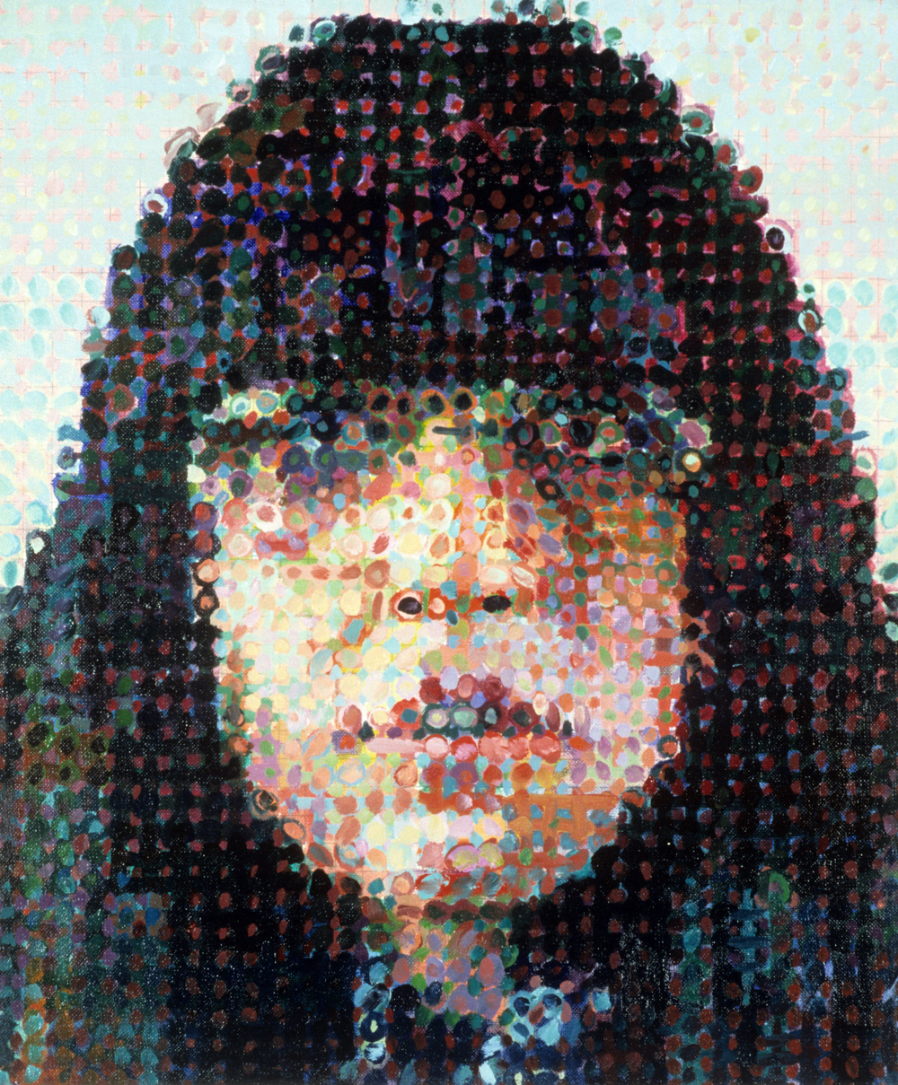 Susan ,  1987 , Chuck Close. Courtesy of Louis K. Meisel Gallery