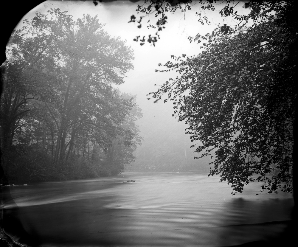 Rising Mist, Maury River, 2007 Robert Alexander Williams 6.5 x 8, Edition of 5, signed and numbered Varnished silver gelatin print from wet collodion negative