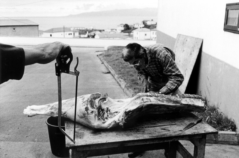 Preparatin of the Meat for the Holy Spirit Soup, Island of Corvo, Azores, 2005 , Paulo Monteiro