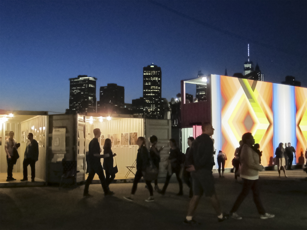 Photoville at night