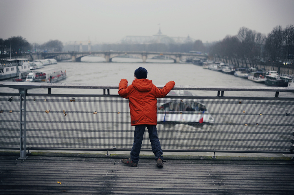 Boy Overlooking the Seine