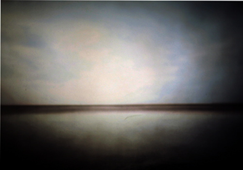 "© Diana H. Bloomfield Horizons through the Pinhole, Raleigh, NC, USA. ""This image was made late in the day, at the NC coast (Bald Head Island, NC), and about a 3-minute exposure, give or take a minute or two (very well-considered and scientific calculation...)."" ""This was made with a 4x5 wide-angle Pinhole Resource 'Leonardo' camera, using a 4x5 film back and years-old Fuji-color film."" Worldwide Pinhole Photography Day 2014"