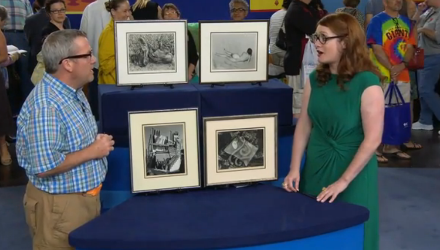 Antiques Roadshow talks with Andrew about his Edward Weston prints.