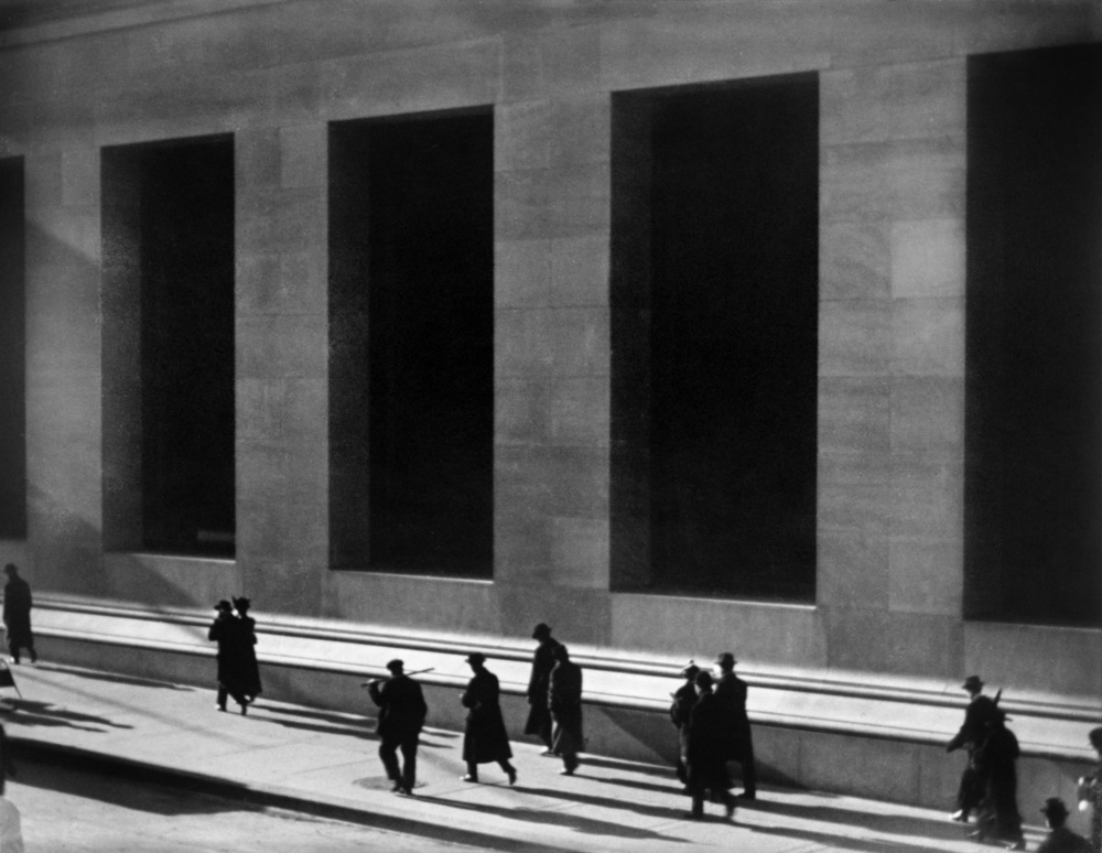 Wall Street, New York City, 1915  by Paul Strand via  Wikimedia Commons