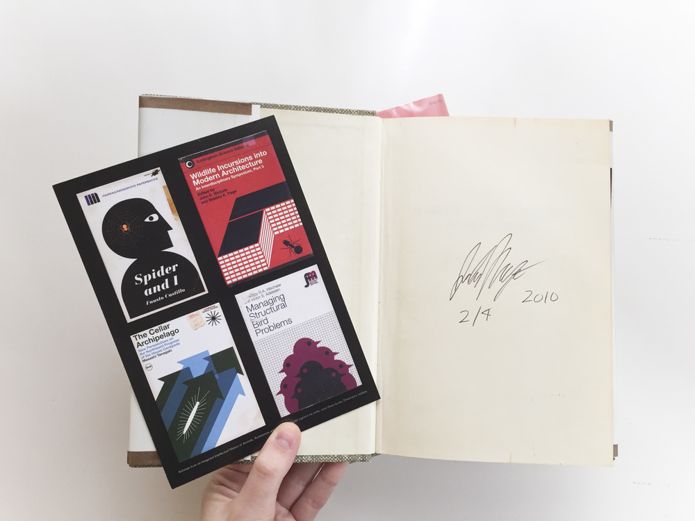 The signature and edition number is on first inside page.