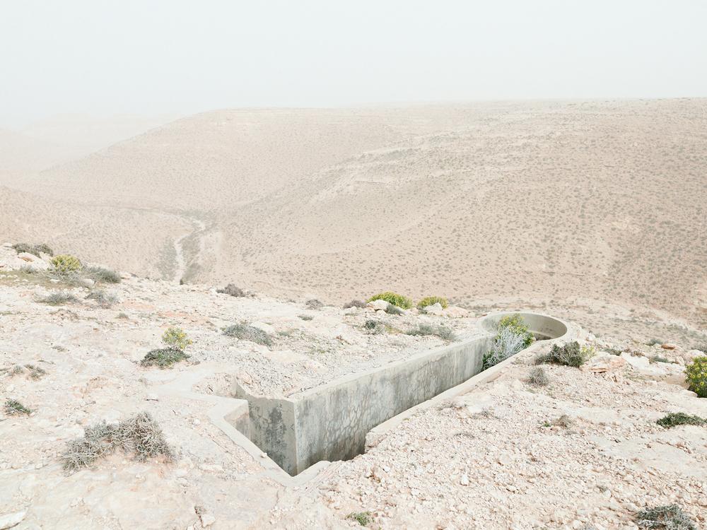 Gun emplacement, Bunker Z93, after a sandstorm, Wadi Zitoune Battlefield, Tobruk perimeter, Libya ,  Matthew Arnold