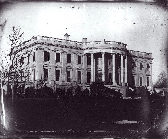 1846 daguerrotype of the White House by John Plumbe via  Wikimedia Commons