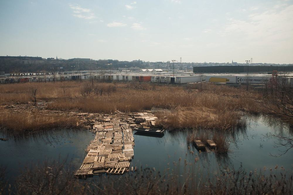 Pallets, New Jersey, 1:05:36PM, Spring 2010, Northeast Regional ,  Stacey Evans