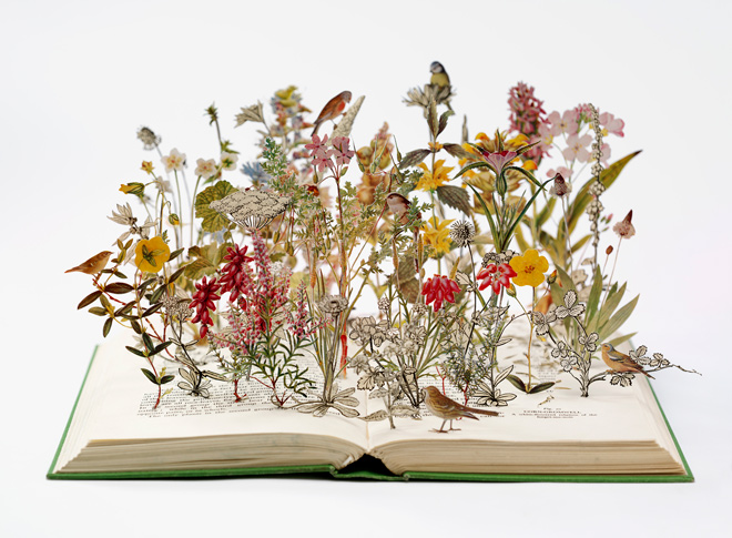 Nature in Britain, 2012, book-cut sculpture
