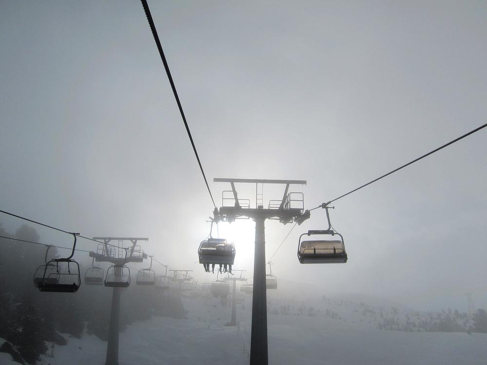 Ski Lift Ascent, Bormio, Italy, 2012 ,  Eileen Keator