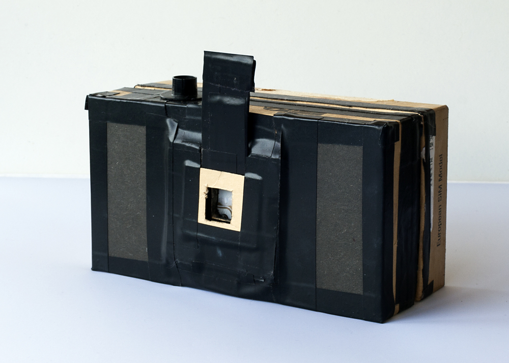 35mm pinhole camera made from a smartphone box.