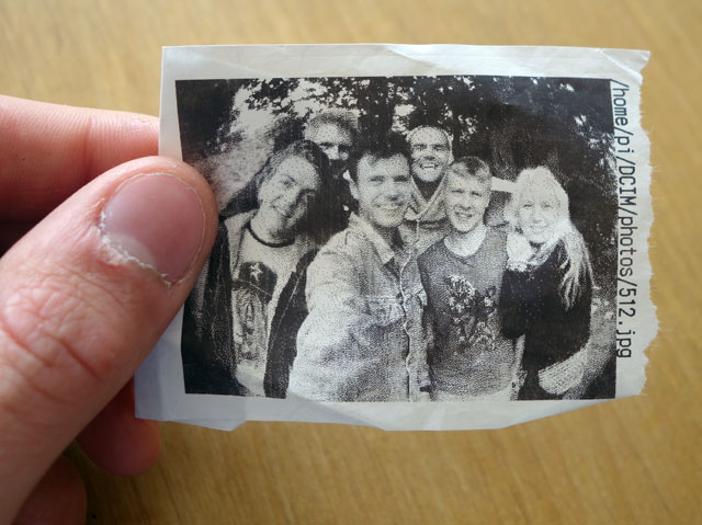 Photo printed onto receipt paper.