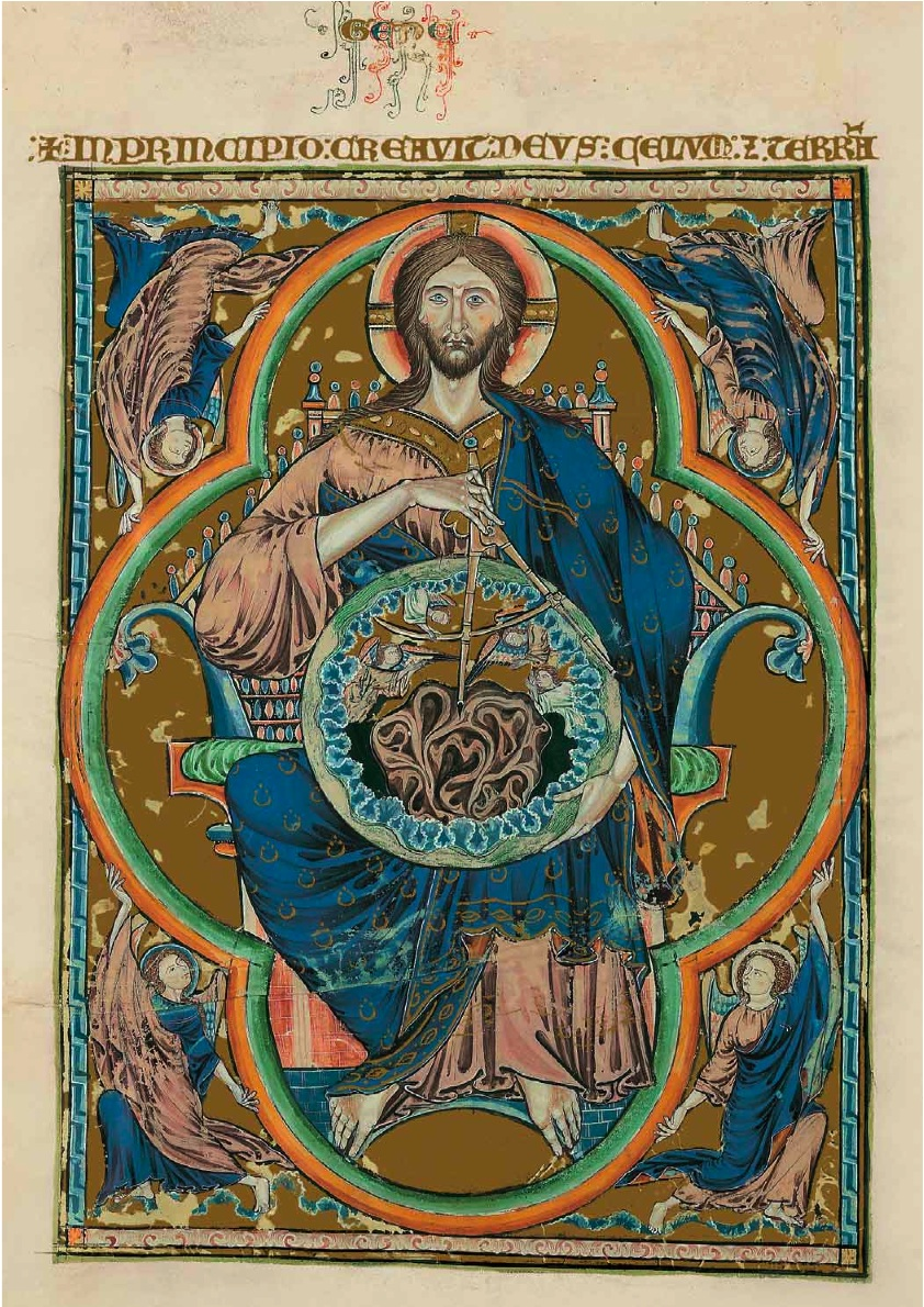 """Bible moralisée de Tolède - Dieu pantocrator"" Licensed under Public Domain via  Commons"