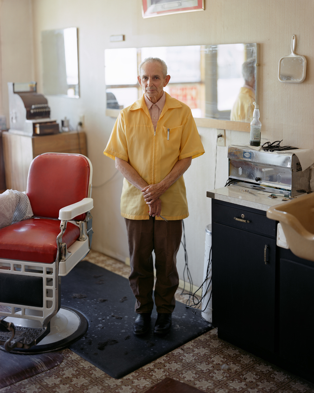 A Barber About to Give a Haircut, Arco, Idaho, 2004, Joshua Dudley Greer
