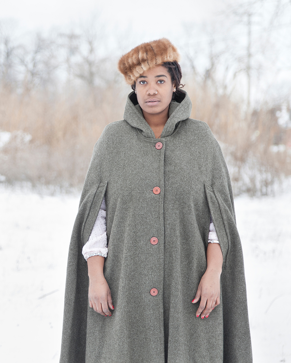Untitled (Woman in the Snow, Detroit, MI) ,  Jennifer Garza-Cuen