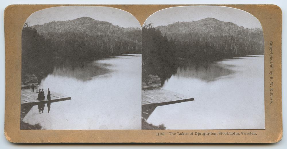 Stereoview: The Lakes of Djurgarden,   Greg Sand
