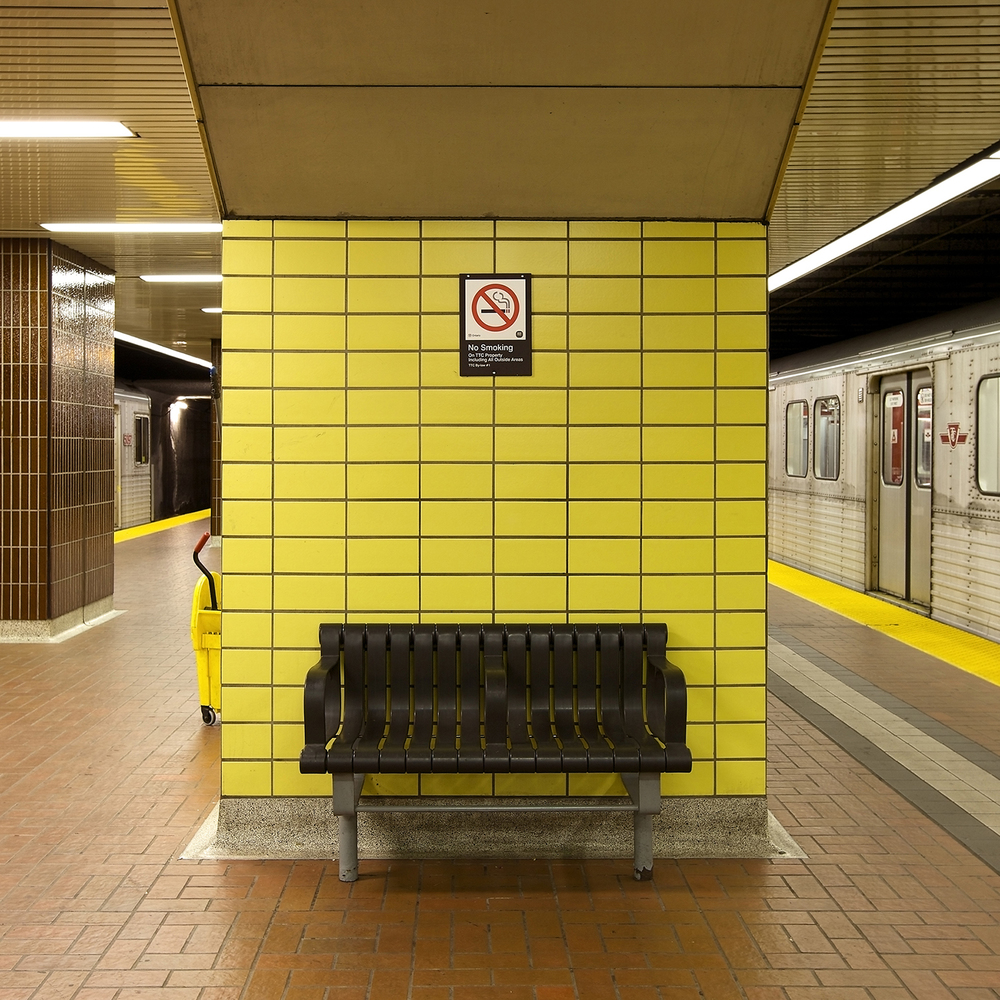 "Chris Shepherd ""Kennedy Station Bench, Toronto"" courtesy of Bau-Xi Photo"