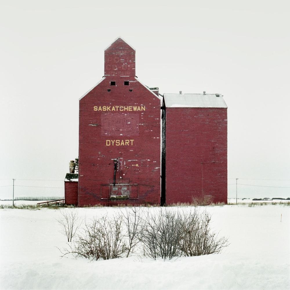 Grain Elevator No. 8, Saskatchewan, Canada from the series The Elevators, Vera Saltzman